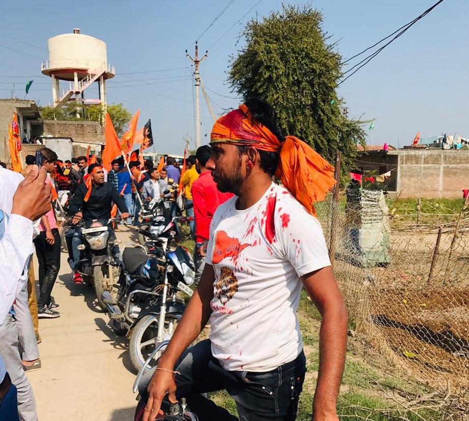 हनुमान चालीसा का पाठ करते श्रीराम भक्तों पर हुआ पथराव