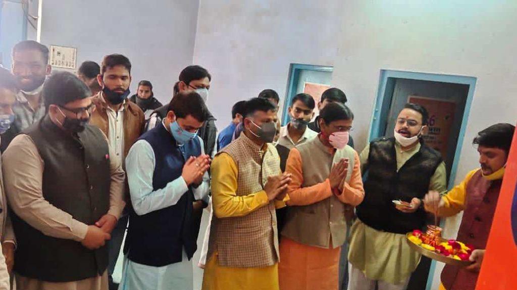 विद्यार्थी परिषद के प्रांत अधिवेशन कार्यालय का उद्घाटन