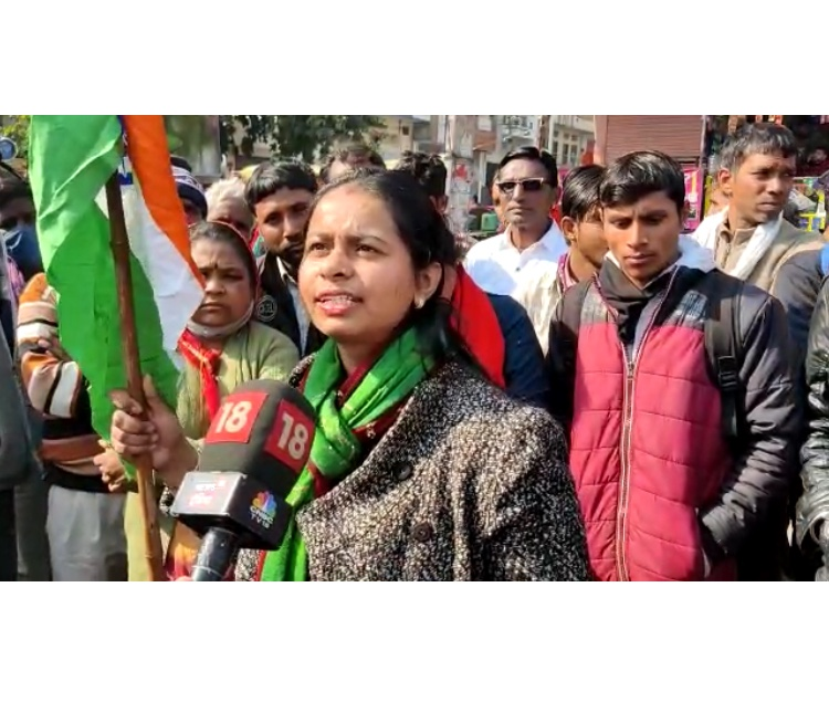 लाल किले पर घटित राष्ट्रीय ध्वज के अपमान की घटना के विरोध में जयपुर में प्रदर्शन