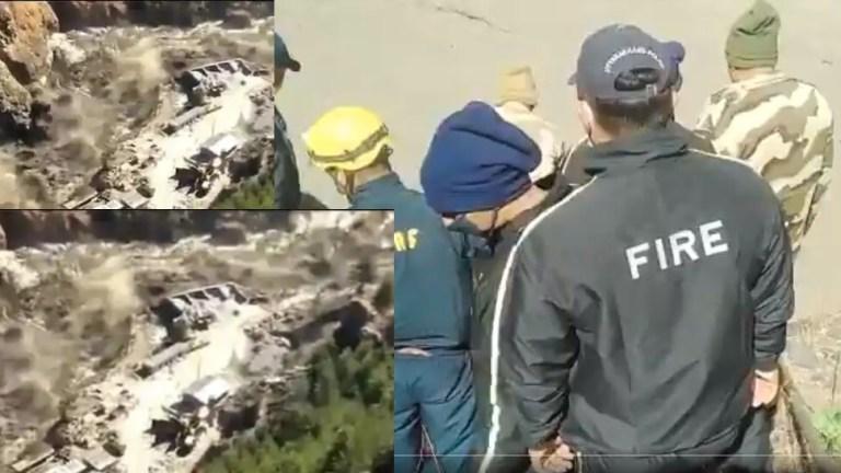 उत्तराखंड में ग्लेशियर टूटा, बचाव कार्य जारी