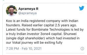 बॉम्बिनेट टेक्नोलॉजीस के लिए नए फंड्स भारतीय निवेशक 3one4 कैपिटल से मिले हैं।