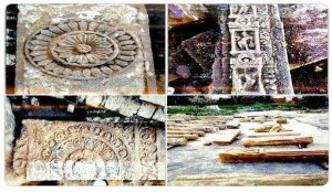 राम मंदिर के लिए नींव की खुदाई के दौरान मिलीं चरण पादुका सहित अनेक खंडित मूर्तियां