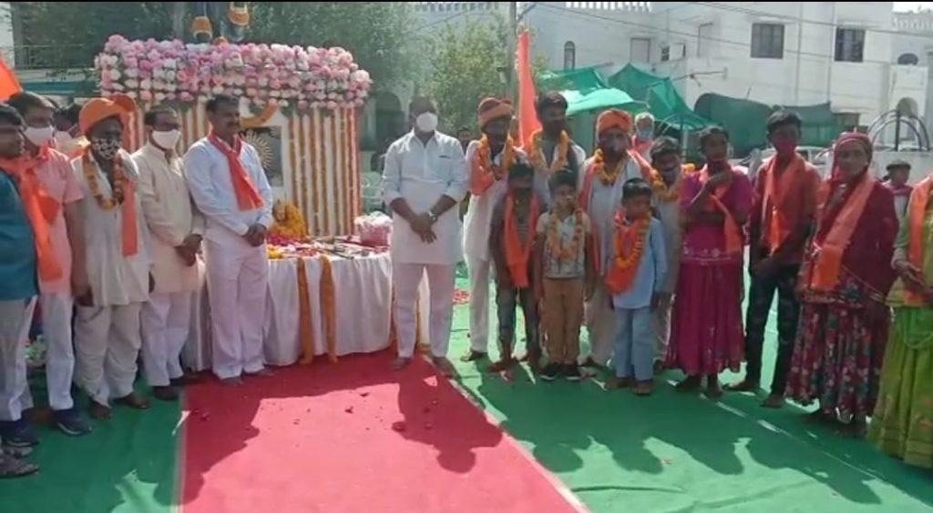 झालावाड़ में गाडि़या लोहार परिवारों ने किया महाराणा प्रताप की प्रतिमा का अनावरण