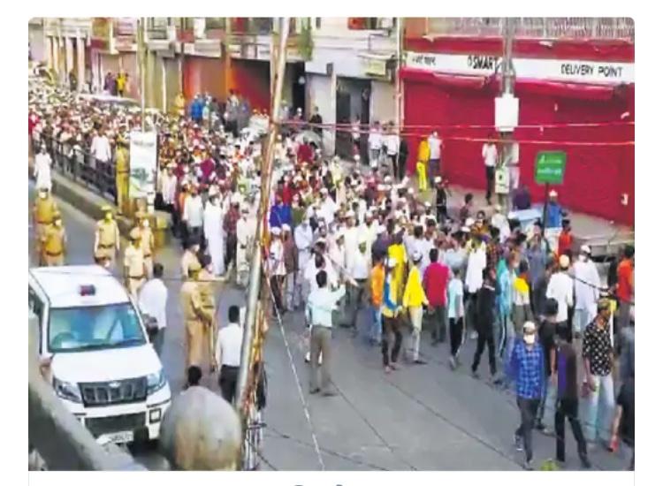 जयपुर: हाजी रफअत अली के जनाजे में उमड़ी 15 हजार की भीड़, उड़ीं कोरोना गाइडलाइंस की धज्जियां