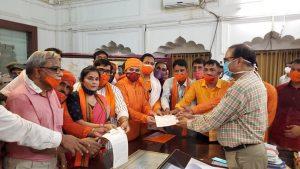 अलवर मेवात में बढ़ते अपराधों के विरुद्ध हिन्दू समाज ने राज्यपाल को दिया ज्ञापन
