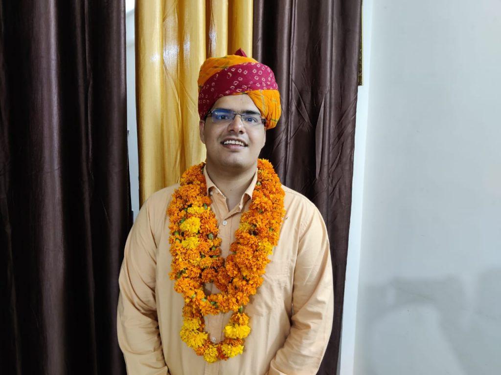 विद्या भारती ने अपने पूर्व छात्र गौरव बुडानिया का सिविल सेवा में चयन होने पर किया सम्मान